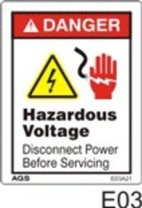Electrical Hazard Safety Decals