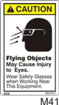 Flying Objects Safety Decals