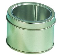 Round Tin Box With Window