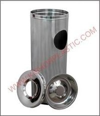 Stainless Steel Ash Can Bin And Ashtray Bin