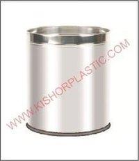 Stainless Steel Open Plain Dustbin