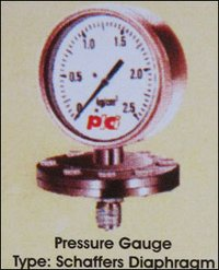 Schaffers Diaphragm Type Pressure Gauges