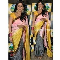 Contrast Printed Saree
