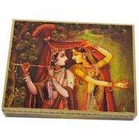 Radha Krishna Hand Painted Gift Box