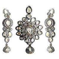 Polki pendant set in jaipur rajasthan manufacturers suppliers kundan polki pendant set in jaipur aloadofball Choice Image