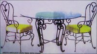 Wrought Iron Table With Chairs