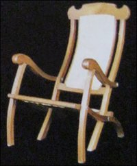 T W Caned Folding Chair