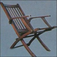 T W Folding Chair Rose Wood Stain