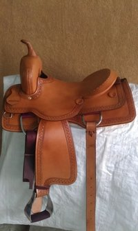 Leather Western Cutter Saddle