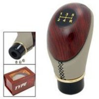 Leather And Plastic Shift Lever Gear Knob