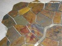Brown Interlocking Texture Stone