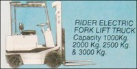 Rider Electric Fork Lift Truck