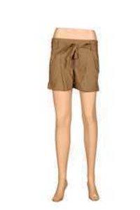 Ladies Khaki Short Pant