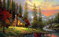 Stretched Wonderful Nature Painting