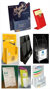 Acrylic And Sunboard Leaflet Holder