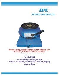 Hand Operated Stencil Cutting Machine