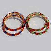 Multicoloured Crystal Bangles