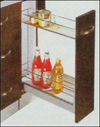 Kitchen Bottle Pullout With 2 Shelves