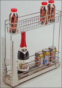 Kitchen Bottle/Organizer Pullout S.S. Mechanism