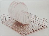 Kitchen Perforated Thali And Plate Basket