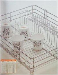Pratique Kitchen Cup And Saucer Basket