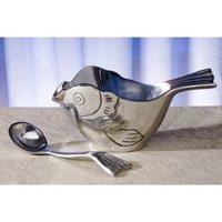 Aluminium Sugar Pot With Sugar Spoon