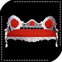 Designer Silver Sofa
