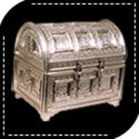 Designer White Metal Box