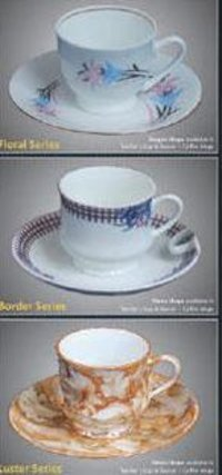 Designer Cappuccino Cup And Saucer