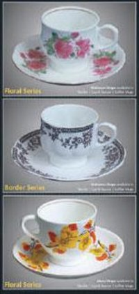 Printed Cappuccino Cup And Saucer