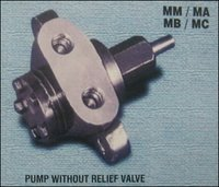 Pump Without Relief Valve