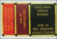 Gold Sign Display Board