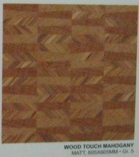 Wood Touch Mahogany Floor Tiles