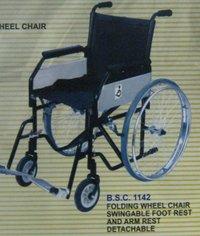 Folding Wheel Chair Swingable Foot Rest And Arm Rest Detachable (Bsc -1142)