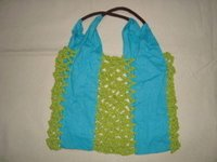 Designer Cotton Mesh Bag
