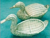 Duck Shape Willow Basket