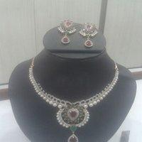 Multi Coloured Studded Necklace Set