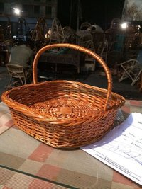 Willow Handle Basket