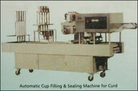 Automatic Cup Filling And Sealing Machine For Curd