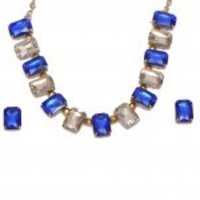 Fashion Blue Necklace Set