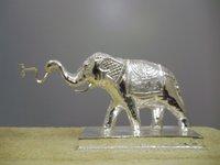 Silver Elephant Murti