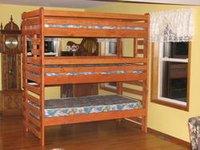 3 Tier Wooden Bunk Bed