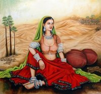 Rajasthani Girl Paintings