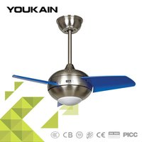 27 Inch Colorful Remote Control Ceiling Fan With Led Light