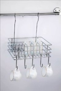 Hanging Plate-Cup Rack