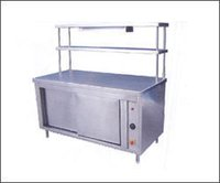 Pickup Counter With Hot Case & Two Over Head Shelves Kitchen Equipment