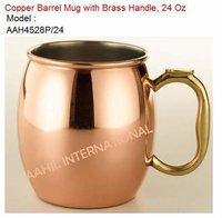 Brass Handle Copper Mug
