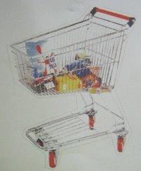 Stainless Steel Supermarket Trolley