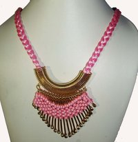 Nk Stick Necklace Pink