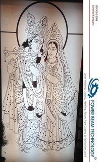 Laser Cutting Radha Krishna Portrait